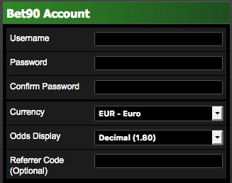 bet90 referrer code